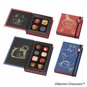 ブックアソートチョコレート(ムーミン)(8個入)・ブックアソートチョコレート(リトルミイ)(4個入) (各1箱・計2箱セット)